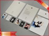 Kundenspezifisches gedrucktes Broschüre-verbindliches Papierblättchen-Blatt