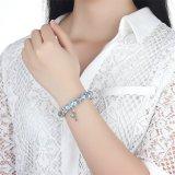 Braccialetti europei blu popolari di fascini dei branelli di vetro