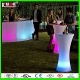 Gros cylindre LED Table Cocktail Table LED de batterie rechargeable