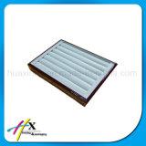 Поднос ювелирных изделий оптовых продаж деревянный с подкладкой PU кожаный