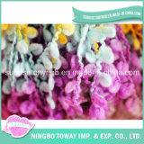 Filato operato del ciclo di Boucle tinto spazio del Rainbow per la sciarpa delle donne