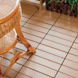 WPC中国の物質的な屋外DIYの連結の木製のプラスチック合成の固体Deckingのパネルによって薄板にされる床タイル