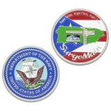 Moneta su ordinazione del ricordo della bandierina di nazione unita dello smalto