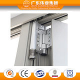 Type de l'Australie 80 séries d'aluminium de double vitrage/aluminium/porte coulissante Bi-Se pliante d'Aluminio