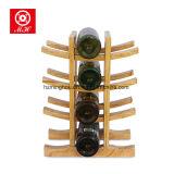 12 Flaschen-Bambuswein-Zahnstangen-Rotwein-Bildschirmanzeige-Zahnstangen-Wein-Speicher-Regal