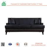 Muebles modernos Muebles de Salón Negro 3 Plazas sofá de cuero