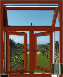 Окно Casement отделки зерна Китая деревянное алюминиевое