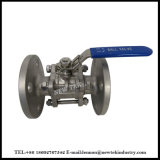 Válvulas de bola de acero inoxidable, 3 piezas 304 Ss; 150 # Brida;