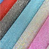 Кристаллический сетка стикера ткани Rhinestone передачи тепла крена для украшения венчания (покрашенные TM-245/2mm)