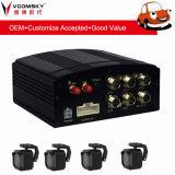 移動式車DVR -- 4CH 720p 3G、4G、GPSの任意選択のためのWiFi機能