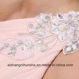 Длиннее шифоновое дешево на Bridesmaid сбывания одевает платье выпускного вечера Одн-Плеча