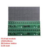 Os pontos internos do módulo de matriz 64X32 do PONTO de F3.0 Rg com Hub08, tamanho são módulo do diodo emissor de luz P4 de 256X128mm, 1/16 de varredura