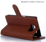 Couverture en gros de caisse de cuir de chiquenaude de modèle de livre de la Chine pour le cas de téléphone portable de la galaxie S7 de Samsung