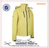O design das mulheres de Inverno Velo acolchoado jaqueta de Capota de Tecido