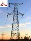 Übertragungs-Zeile Stahlpole-Aufsatz mit Stahlpole-Schellen