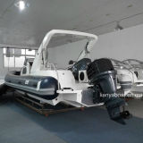 Vedette militaire de bateau gonflable de fibre de verre de Liya 27ft à vendre