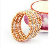 3 Círculo amarillo Perla Rhinestone Pulsera de perlas para la mujer joyas de moda de primavera de 2013 elementos de la moda Bisutería Pulsera (PB-093)