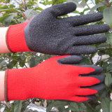 Ладонь 10 датчиков покрыла перчатку работы безопасности перчаток латекса