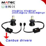 自動車およびオートバイLEDのヘッドライト12V 24V 40W 48W H1 H4 9005 9007 H13 LEDのヘッドライト