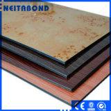 PVDFの木のコーティングのアルミニウムプラスチック合成のパネル