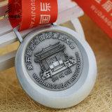 Jiaboの供給の骨董品銀によって浮彫りにされる3DカスタムKungfuのメダル