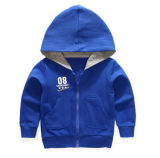 Atacado OEM Custom Kid Hoody, Kid Zip-up Hood Jacket