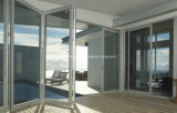 Classic Hanging Systems Exterior Patio Aluminum Doubles Glazing Folding Doors
