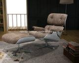 현대 Eames 2륜 경마차 로비 여가 가죽 식사 의자