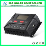 30A 12/24V inteligente automática de controladores de carga solar de PWM (QW-SR-HP2430A)