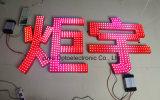 Pixel de chaîne de caractères d'éclairage LED de la publicité extérieure de 9mm/Red 5V/12V pour le panneau indicateur