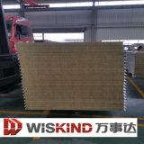 El panel de emparedado de la pared de las lanas de EPS/PU/Rock