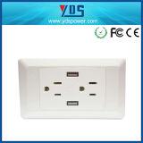 Am neuesten wir Typ elektrisches Schalter-Doppeltes USB-Portwand-Kontaktbuchse