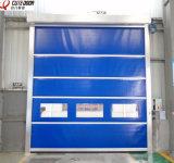 Высокоскоростная ткань PVC промышленная очищает вверх дверь штарки ролика