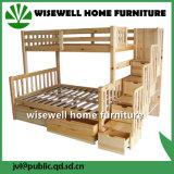 Твердые сосны парных полного двухъярусная кровать односпальная кровать для детей с лестницы