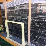 白い静脈が付いている家の壁および床タイルの黒の銀のドラゴンの大理石