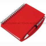 A6 PP Cover Stationery Notebook espiral com caneta plástica (PPN221B)