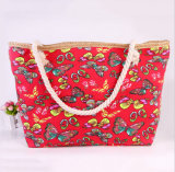 O New Beach Bag Handbags Canvas Shoulder Bag Grande - Capacidade de bolsas Leisure Fashion Cloth Bag