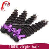 自然なカラー深い波のバージンのインドのRemyの人間の毛髪の束