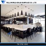 De kunstmatige Marmeren Zuivere Moderne Teller van /Bar van de Lijst van de Staaf Acryl (tw-trct-004)