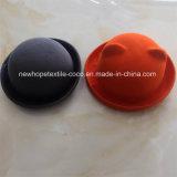 Мода Красочный 100% шерсть Трилби Hat с Hat Я ткань и кнопки украшения