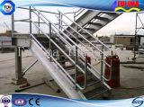 Piattaforma progettata moderna con il corrimano d'acciaio saldato