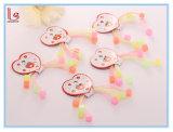 As crianças de cor gelatina luminosa String Elásticas Bandas de cabelo de borracha de silicone