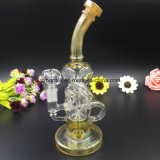 Riciclatore di vetro dell'acqua Fumed argento di Bontek per fumare