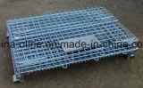 Contenitore d'acciaio piegato accatastabile della maglia di memoria