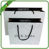 Sacs en papier de empaquetage de cadeau de transporteur d'achats estampés par impression faite sur commande de luxe de papier d'emballage pour bourrer avec des traitements