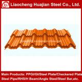 Tôle d'acier galvanisée ondulée utilisée sur la toiture