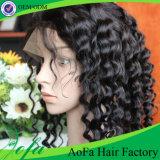 Lungamente in pieno parrucca media del merletto di densità della protezione 140% dei capelli umani