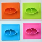 Nouveau design bébé tapis de silicone avec dîner ensemble bol