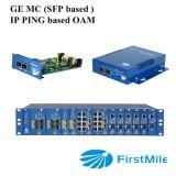 """2u 19 Convertor van """" 17 van Groeven Media Oam van IEEE 802.3ah de Chassis Geleide met SNMP"""