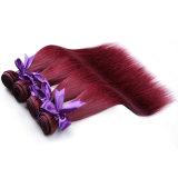 Pollice rosso diritto brasiliano dei capelli 10-26 delle donne della Borgogna dei capelli umani del Virgin